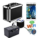 HD Wifi Wireless 30M Underwater Fishing Camera Video Recorder For IOS Android APP Supports Video Record And Take Photo, 12 Pcs Infrared Lamp Lights
