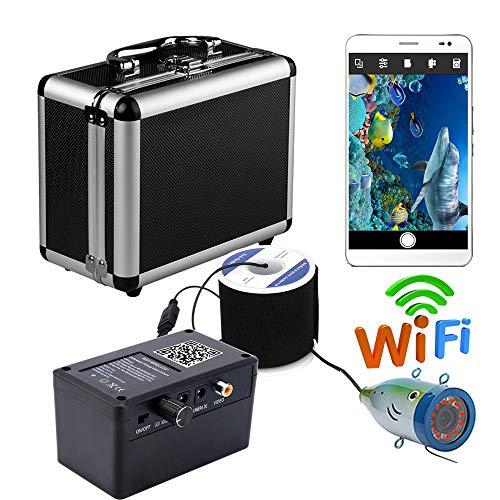 Fish finder HD WiFi Wireless 30M Unterwasser-Fishing-Kamera-Video-Recorder Für IOS Android APP unterstützt Video-Aufzeichnung und Aufnahme Foto, 12 Pcs Infrarot-Lampenlicht