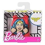 otto pour Barbie - Habit pour Poupee Mannequin - Debardeur Rouge Wonder Woman - Vetement - Tenue Top DC