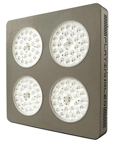 Advanced Platinum Series P4-XML2 380w 12-band LED Grow Light + CREE 10w XM-L2 w/ DUAL VEG/FLOWER FULL SPECTRUM, grey
