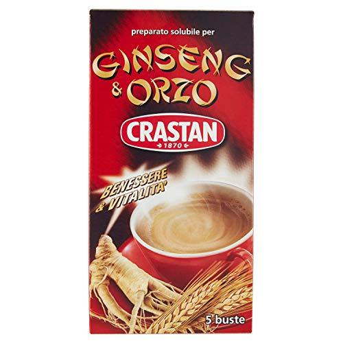 Crastan Ginseng & Orzo Solubile - Pacco da 5 X 20 gr - Totale: 100 gr - [confezione da 7]