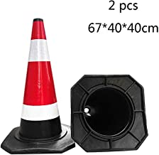 AJZGF Traffic Cone Warning Cones, Safety Cones, Road Traffic Safety Cone Traffic Control Signs 2 Highway Traffic Cone (Size : 674040cm)