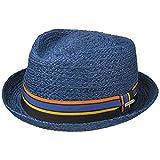 Stetson Sombrero de Rafia Cantalo Diamond Hombre - Sol Verano Playa con Banda Grosgrain Primavera/Verano - S (54-55 cm) Azul