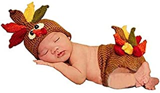 Lppgrace Photography Prop Baby Infant Costume Turkey Crochet Knitted Hat Diaper