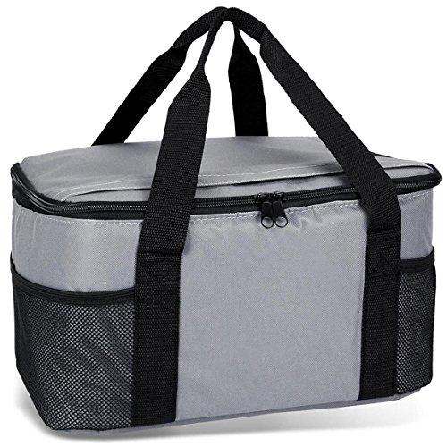 noorsk Kühltasche 20 Liter Einkaufstasche Strandtasche Picknicktasche Kühlbox Picknickkorb in vielen Farben - Anthrazit