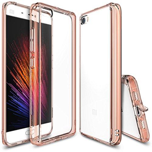 Ringke - Funda Xiaomi MI 5, [Fusion] Choque Absorción TPU Parachoques [Choque Tecnología Absorción][Conviviente Tapón Antipolvo] para xiaomi mi 5 - Rose Gold Crystal