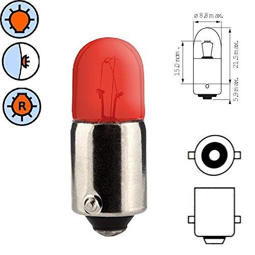 Ampoule, BA9S, 12V, 4W, Rouge