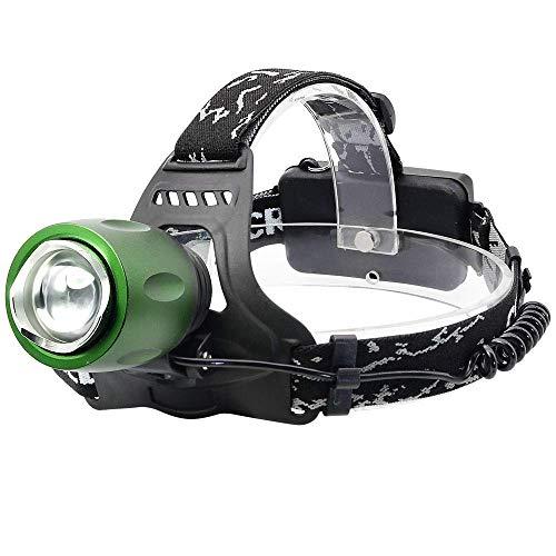 MUTANG Proiettore per esterni leggero a LED, Super Bright 2500 Lumens Torcia frontale ricaricabile in lega di alluminio USB, Lampada da minatore impermeabile per l'esecuzione di biciclette da passeggi