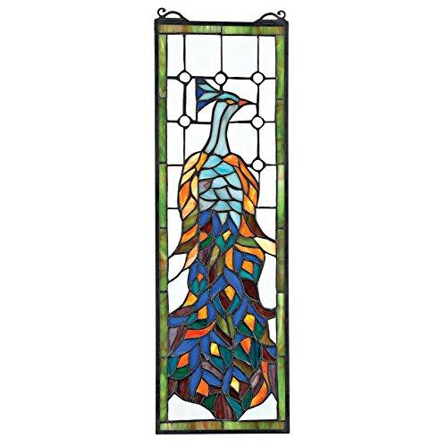Buntglas-Panel - Pleasant Peacock Buntglas-Fenster Behang - Fensterbehandlungen