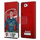 Head Case Designs Offizielle Arsenal FC Bernd Leno 2019/20 Erstes Team Gruppe 1 Leder Brieftaschen Huelle kompatibel mit Wileyfox Spark/Plus