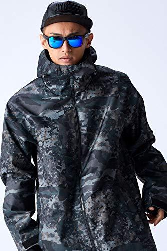 スノーボード ウェア メンズ ジャケット 全15カラー 6サイズ(XXS~XL) スノボウェア メンズ レディース 19-20 W_RAY ダブルレイ 上 J01-J15 (J10:ミリタリー, L)
