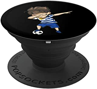 Dabbing Soccer Boy Uruguay Jersey - Uruguayan Football PopSockets Grip and Stand for Phones and Tablets