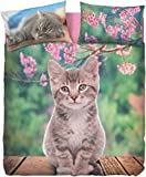 Copripiumino NICE CAT matrimoniale bassetti (sacco 250x200 + cm.45 pattella rimbocco =245 + 1 sotto lenzuolo 175x200 + 2 federa double face 50x80)