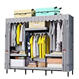 Closet Storage Closet Clothes Portable Fácil montaje portátil Ropa de vestuario Armario Organizador de almacenamiento Freestanding Closet Portátil Estantes fuertes Wardrobe Closet Organizer Shelf Ward