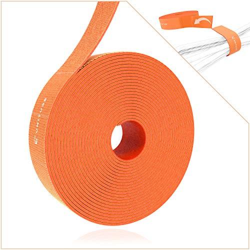 UNITURE® - Abreißbares Klettband für ordentliches Kabelmanagement - Kabelbinder zum Bündeln und Fixieren - 3m Klett kabelbinder 15mm Breit