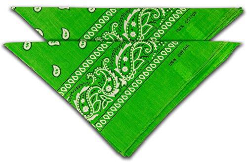 FashionCHIMP fashionchimp Nicki-Halstuch aus 100% Baumwolle im 2er Set, Unisex Bandana, AZO-Frei (Grün)