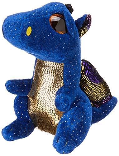 TY 36879 Blue Dragon Saffire, Drache dunkelblau 15cm, mit Glitzeraugen, Glubschi's, Beanie Boo's, 15 cm