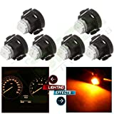topcn-autoparts 6PCS - LED T3 Neo Wedge Cluster Gauge Dash Climate Control Light 8MM - Amber/Yellow