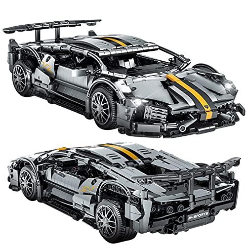 ZJLA Nuevo creativo famoso coche de carreras serie bloques de construcción modelo ladrillos niños montaje DIY juguetes regalos de cumpleaños para novio (sin caja original)