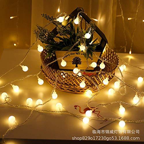 CFLFDC sterrenlichtsnoer LED klein licht kleurlicht vakantielamp lamp (kogel) warm wit 10 m 100 plug-in lamp met lijm stekker