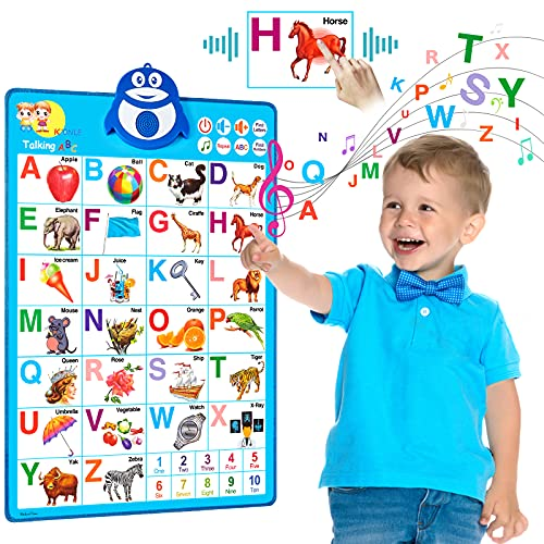 Lefree Electronic Interactive Alphabet Wall Chart, Preschool Learning Toys, ABC & Numbers & Music Talking Poster, Toddler Boy Toys, Toddler Girl Toys, Birthday Christmas
