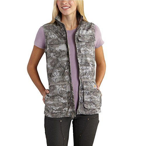 Carhartt Women's El Paso Utility Vest Camo, Asphalt, Small