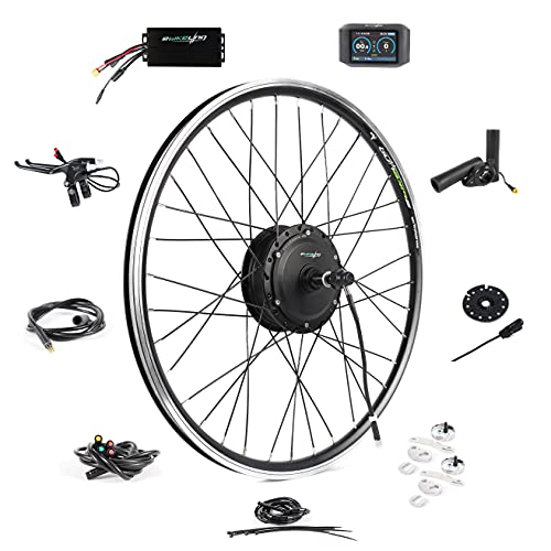 """EBIKELING 36V 500W 26"""" Geared Front Waterproof Electric Bicycle Conversion Kit (Front/LED/Thumb)"""