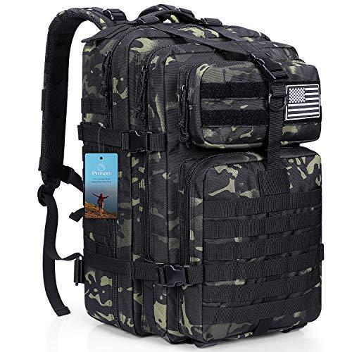 Prospo 40L Fishing Backpack Gear Military Tactical Assault Daypack Molle Shoulder Bag