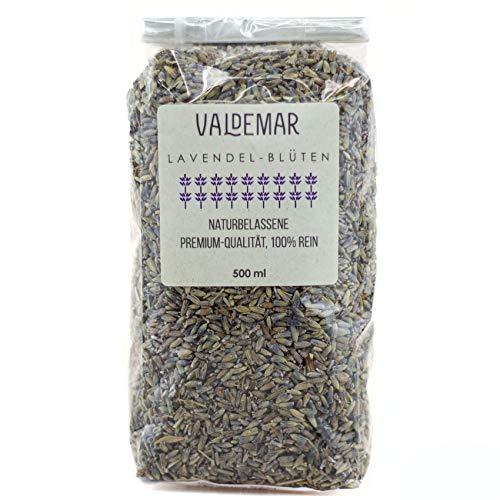 Valdemar Manufaktur eetbare Premium LAVENDEL-bloesems, 500 ml - HANDVERPAKT In Duitsland