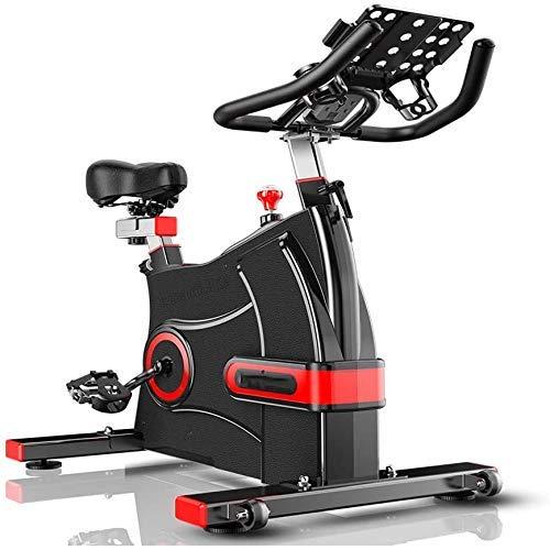 Kyman Cyclette Indoor Cycling, Manubrio Regolabile Resistenza Sedile, Display LCD Elettronico Legge Distanza Tempo ecc, Bicicletta Spinning Elettromagnetica per Uso domestico con Staffa Multifunzione