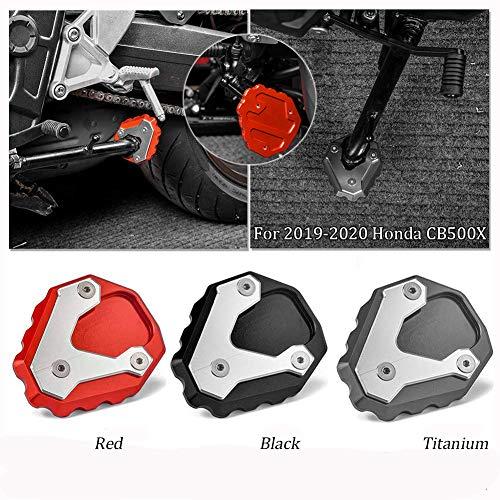 Motocicleta CNC Aluminio Side Kick Stand Kickstand Placa de