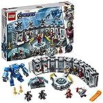 LEGO-Super-Heroes-Sala-delle-Armature-di-Iron-Man-Set-di-Costruzione-Ricco-di-Dettagli-per-Bambini-7-Anni-e-per-i-Fan-Marvel-Avengers-76125