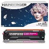 Hainberger–Tóner magenta para cf403X para HP Color LaserJet Pro m252dw Pro 200m252N Impresora láser compatible con CF de 400x CF de 401x CF de 402x CF de 403X, color 2.300páginas