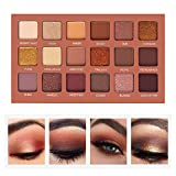 SEPROFE Eyeshadow Palette Professional Smokey Eye Shadows Nudes Highly Pigmented 18 Warm Chocolate Colors Matte Shimmer Neutral Eyeshadow Makeup Kits