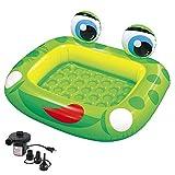 LHY BATHLEADER Planschbecken Für Kinder, Aufblasbare Pool, Babypool des Grünen Frosches, 50 * 43in, Sommer Kinderunterhaltung, Spiele