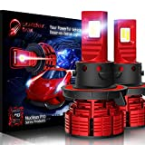 LIGHTENING DARK H13 9008 led headlight bulb, 16000 Lumens Extremely Bright Nucleus Pro Conversion Kit - 6500K Cool White, Adjustable Beam