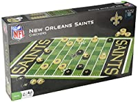 MasterPieces NFL New Orleans Saints Checkers Board Game Set, for 2 Players, Ages 6+