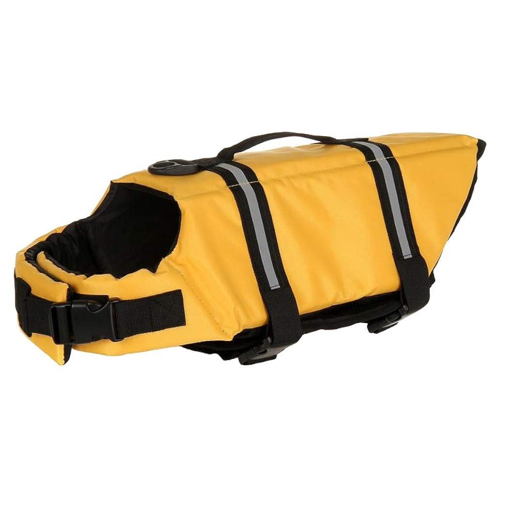 自転車航空会社パスSPACE-Z 犬用 ライフジャケット 救命胴衣 安心安全 胴輪 小型犬 中型犬 大型犬 3色 Sサイズ イエロー
