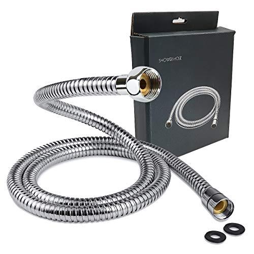 Manguera de ducha, tubo de ducha flexible de acero inoxidable, conexión de boquilla a prueba de fugas, manguera de ducha universal 304 para baño, cocina(1.5M)