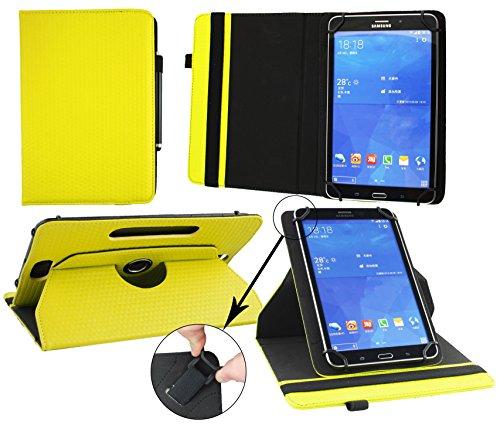 Emartbuy® XIDO Z90 9.6 Zoll Tablet PC Universal ( 9 - 10 Zoll ) GepolsterteDesign Gelb 360GradrotierendeStandFolioGeldbörseTascheHülle + Schwarz Eingabestift