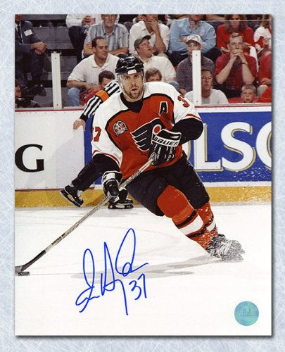 AJ Sports World Eric Desjardins Philadelphia Flyers Autographed Stanley Cup Finals 8x10 Photo