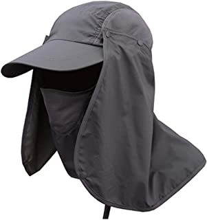 Folding Sun Hat 360° UV Protection Mask Cap for Men Women Hiking Fishing Outdoor Yard