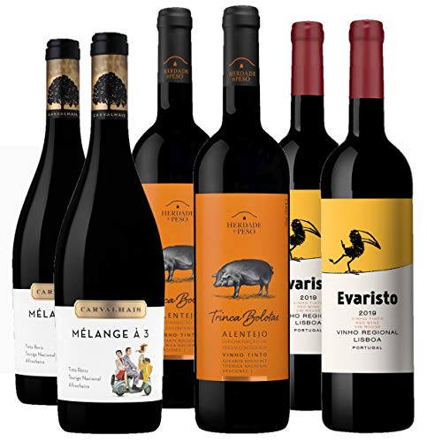 Bodegas LAN - Pack Vino Tinto Portugal Irreverente - 6 botellas de 750 ml - Total: 4500 ml