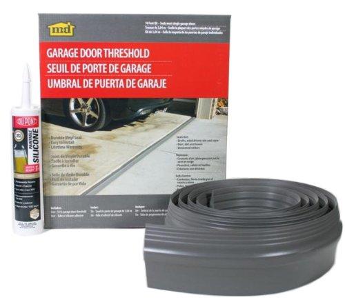 M-D Building Products 50100 M-D Single Garage Door Threshold Kit, 10 Ft L, Vinyl, Gray, 10'