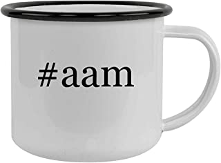 Rubber Docking #aam - Sturdy 12oz Hashtag Stainless Steel Camping Mug, Black
