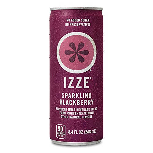 IZZE Sparkling Juice, Blackberry, 8.4 Fl Oz (24 Count)