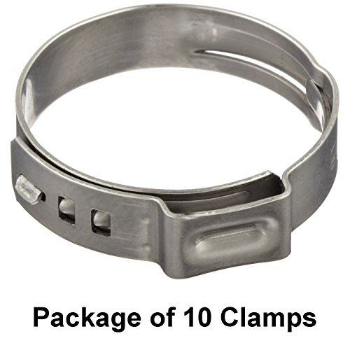 Oetiker 16702494 Stepless Ear Clamp, One Ear, 7 mm Band Width, Clamp ID Range 13.7 mm (Closed) - 16.2 mm (Open) (Pack of 10)