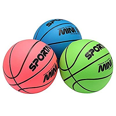 Stylife 5inch Mini Basketball for Kids , Environmental Protection Material ,Soft and Bouncy ,Colors Varied