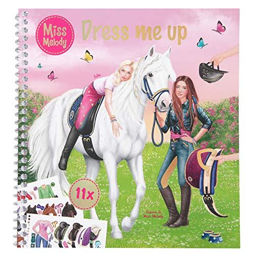 Depesche 10749 Malbuch Dress Me Up, Miss Melody, ca. 19 x 17,7 x 1,5 cm