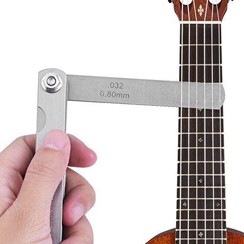 ギターフレットゲージ ギタールイートゲージ 30枚 ギターゲージセット ギター 定規 測定ツール フレット/ロッカー/弦高さ測定 調整 多機能 コンパクト ギターアクセサリー